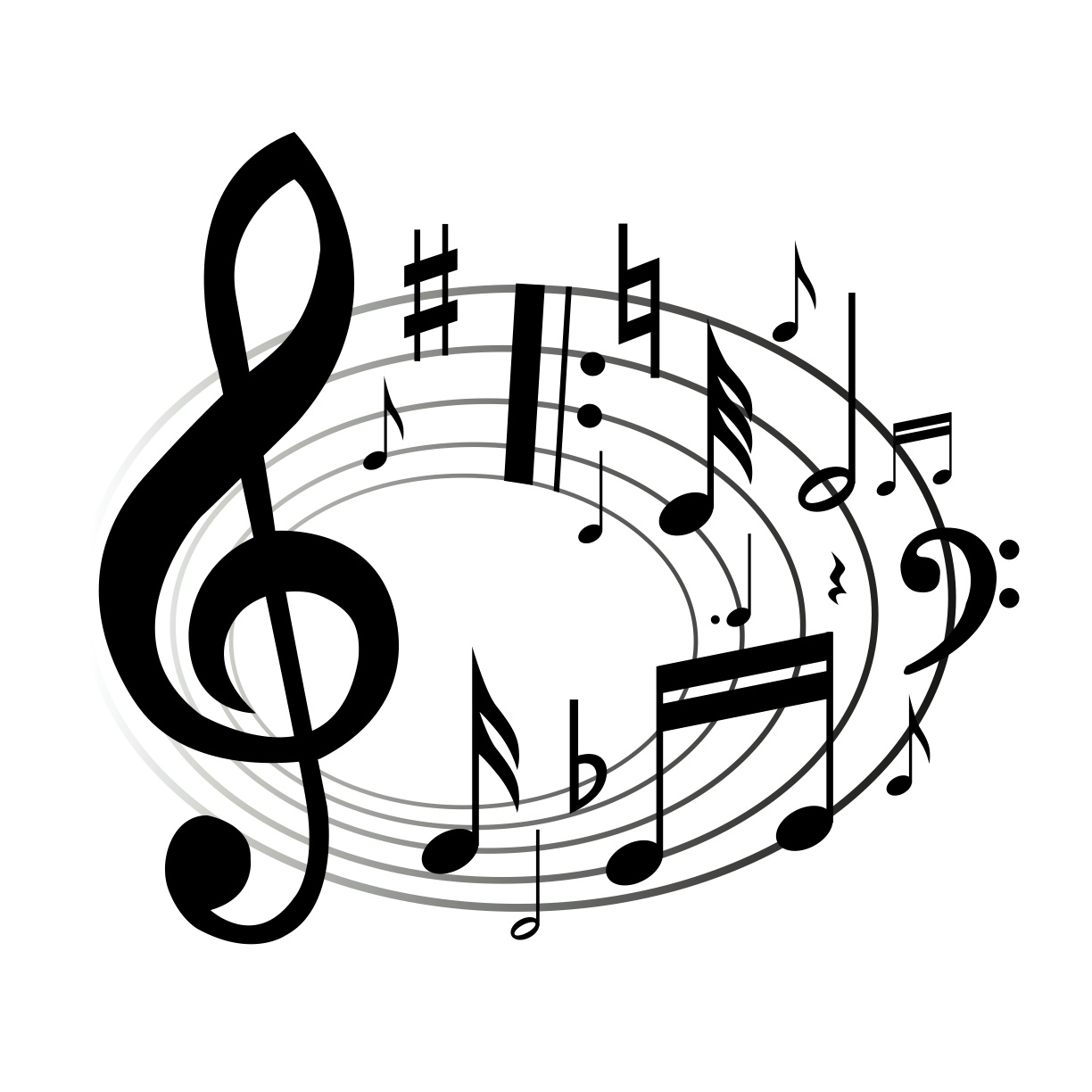 Musical clipart musica. Music notes panda free