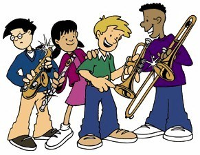 Band clipart school band. Global village academies clip