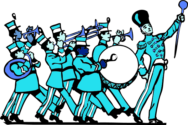 Marching kid clipartix. Band clipart school band image library library