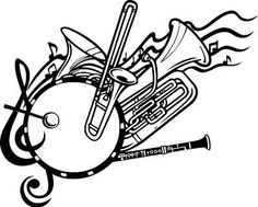 Marching silhouette free clip. Band clipart school band clipart free download