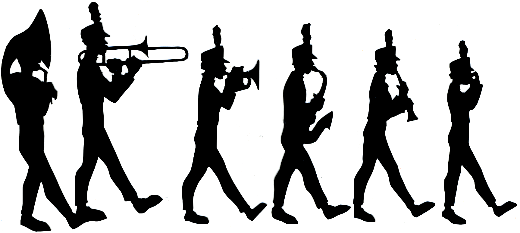 Band clipart soldier march. Marching silhouette at getdrawings