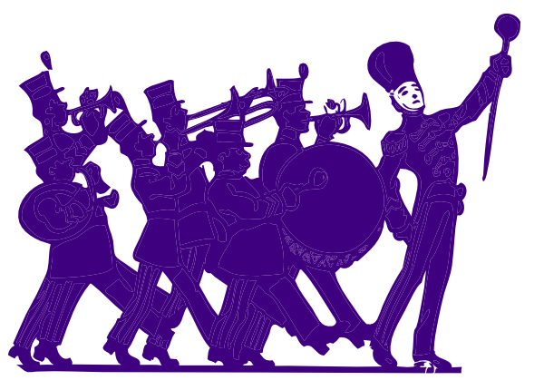 Band clipart soldier march. Marching at getdrawings com