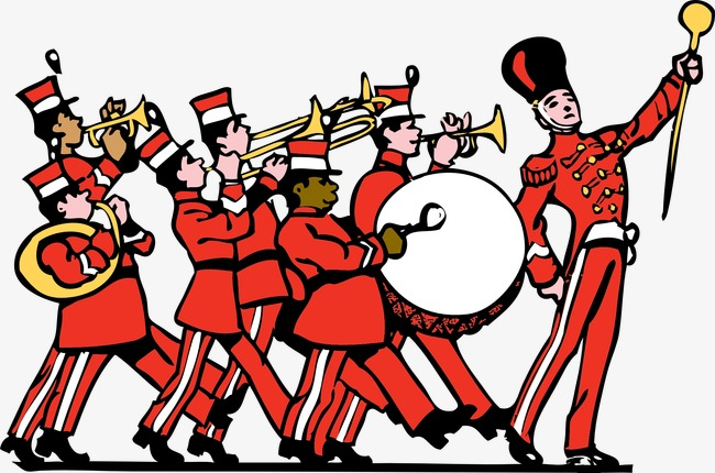 Band clipart soldier march. Marching military unite instrument