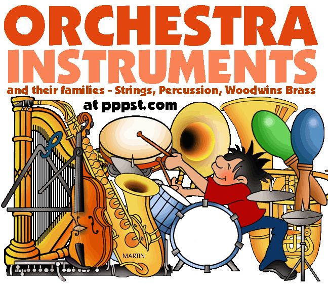 Band clipart symphony. Best instruments of the