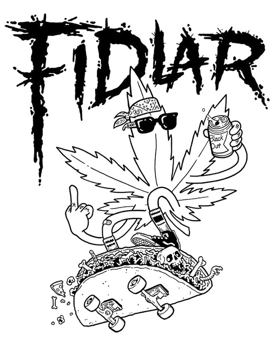 Mixtape drawing indie rock. Love fidlar music