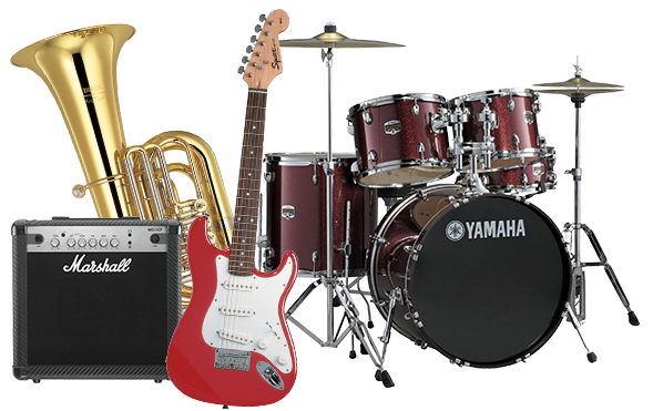 Band instruments png. Rent to own computers