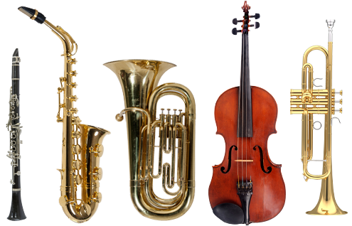 band instruments png