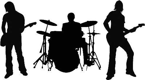 Rock band silhouette png. Download banda image with