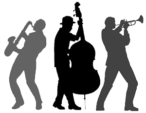 Drawing bands jazz instrument. Pix for band silhouette