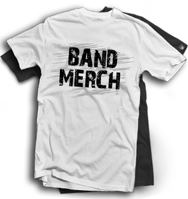 Band tee png. Merch shirt style