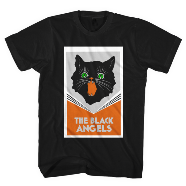 Band tee png. The black angels cat