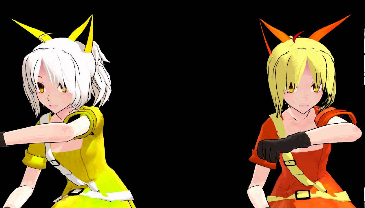 Bandaid clipart mmd. Jolteon and flareon dance