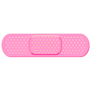 Transparent bandage pink. Band aid car stickers