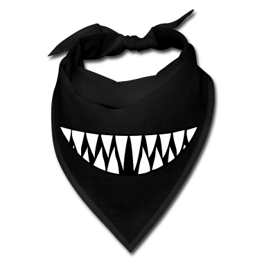 Bandana clipart monster mouth. Sharp teeth smile panda