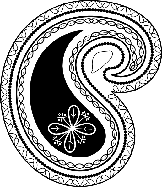 Bandana pattern . Western clipart paisley svg black and white download