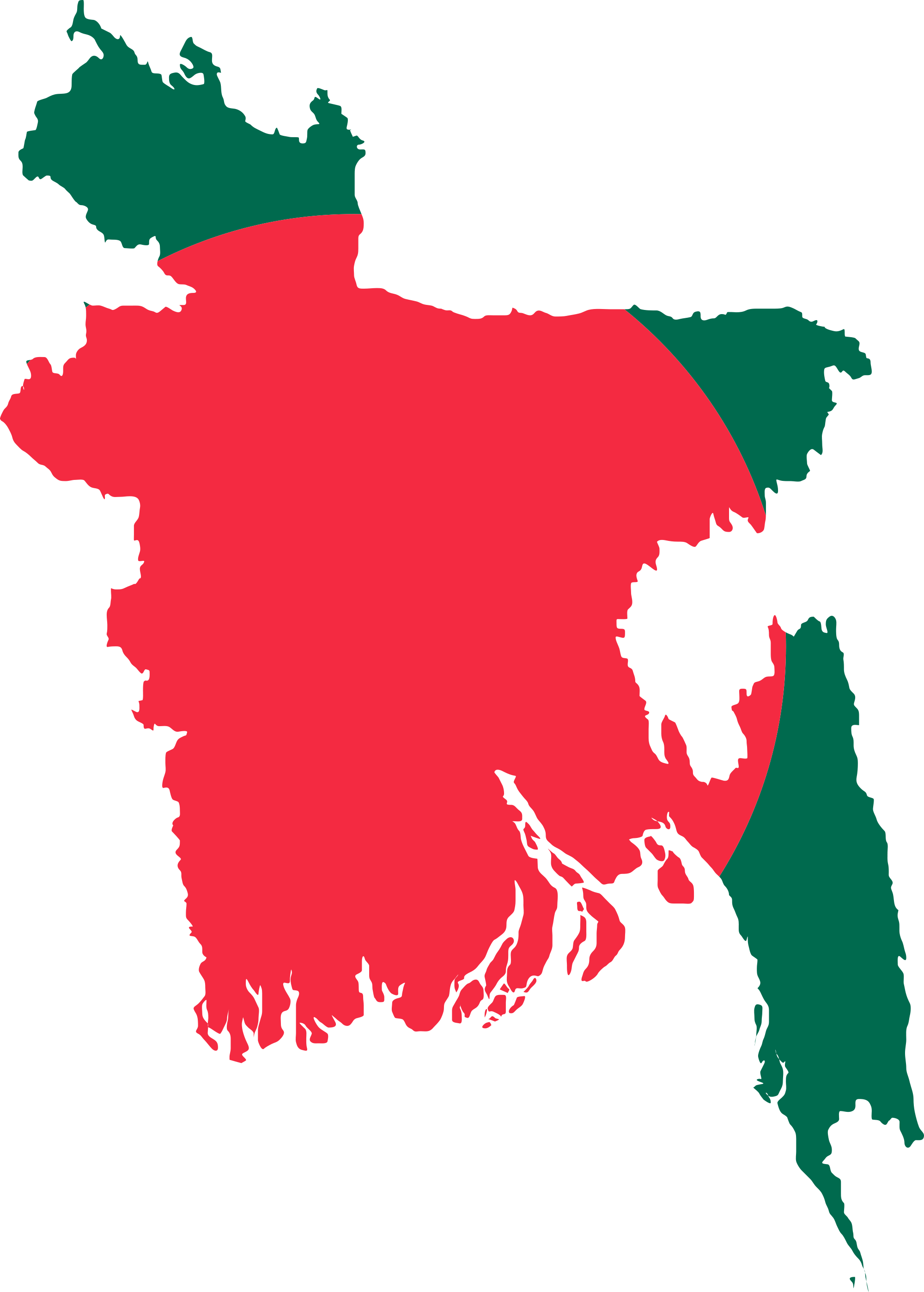 Bangladesh flag png. Image map of constructed
