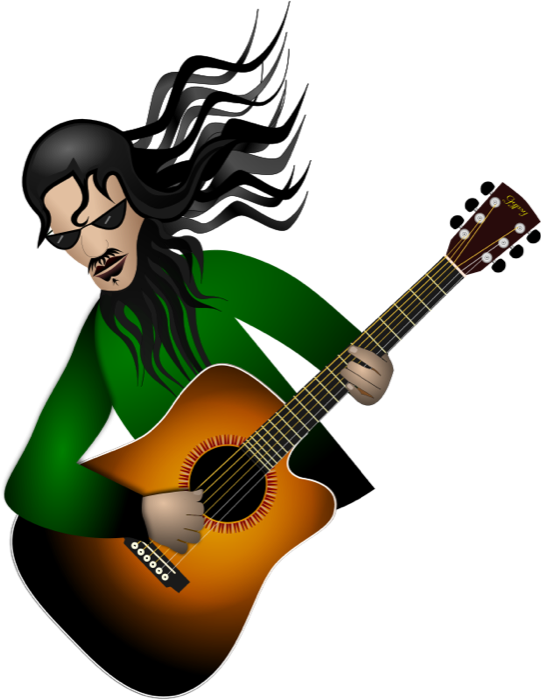 players clipart electric guitar player