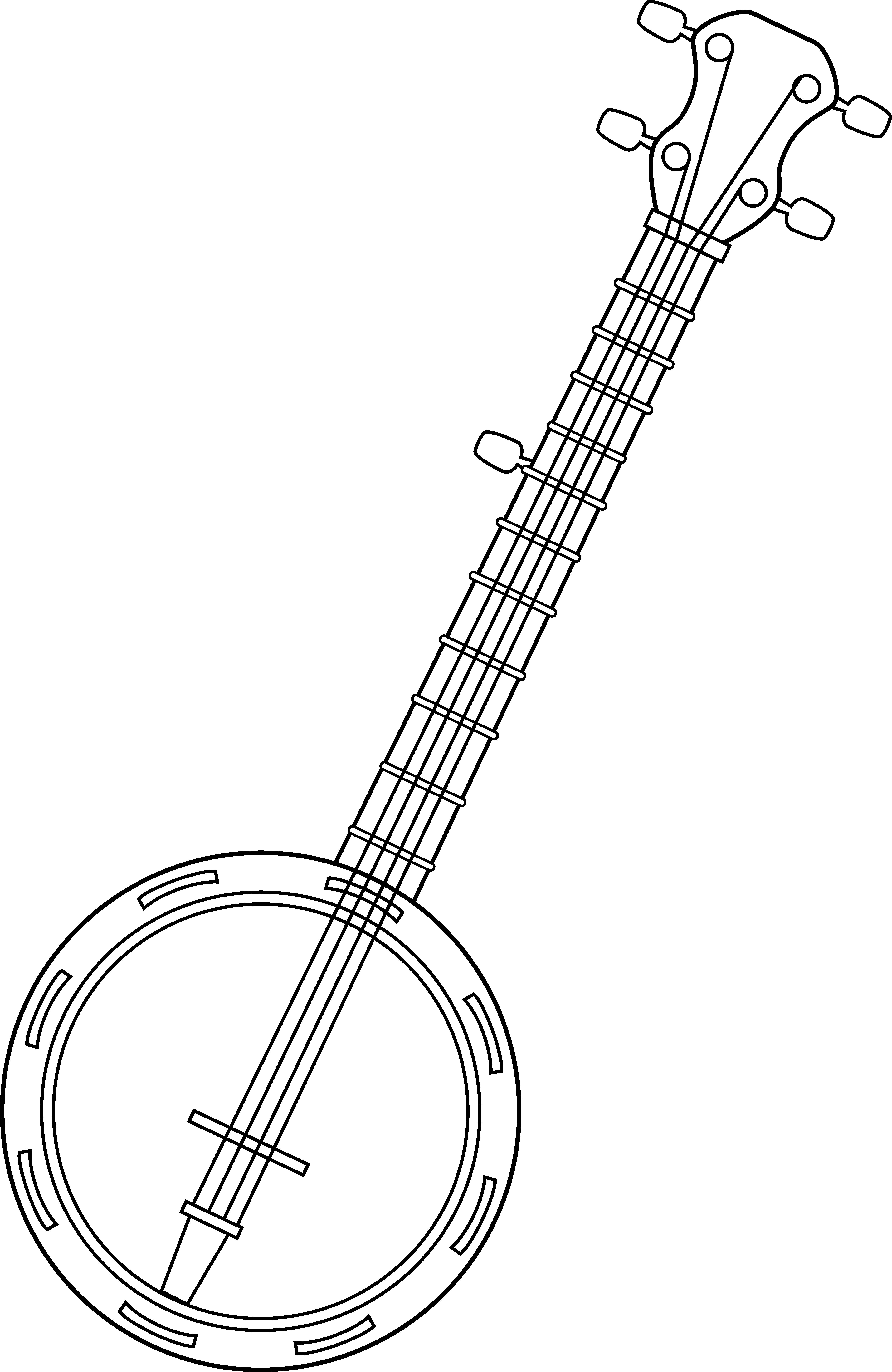 fiddle drawing colouring