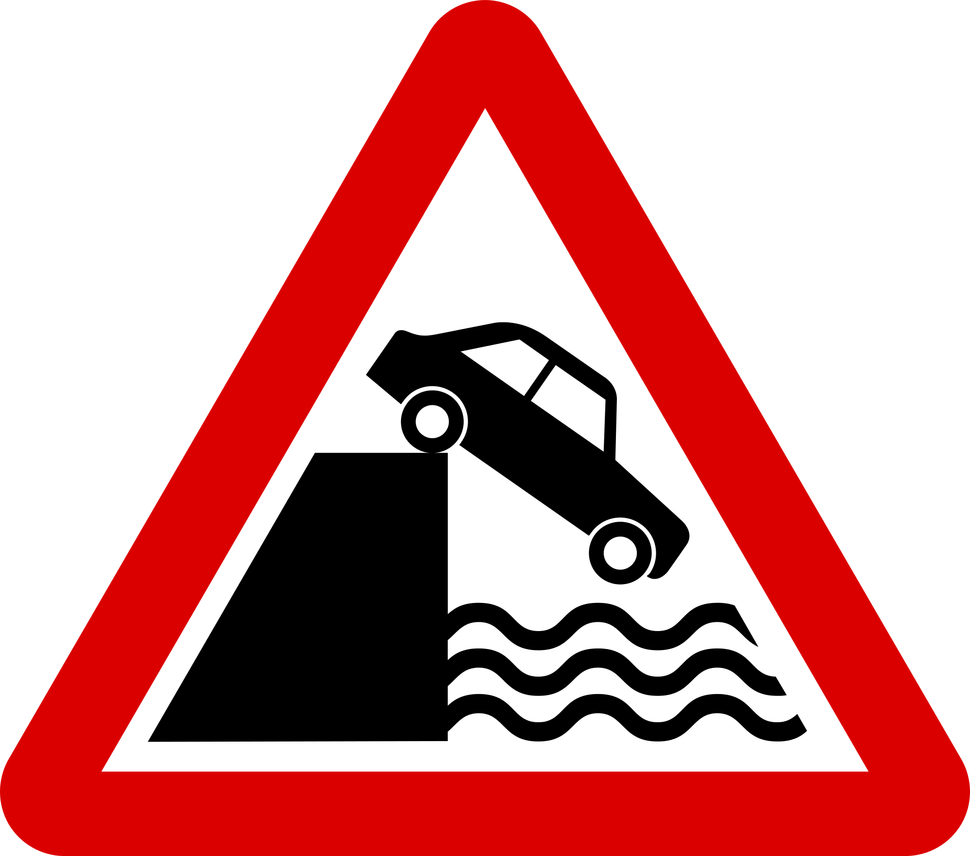 Bank clip sign. File mauritius road signs