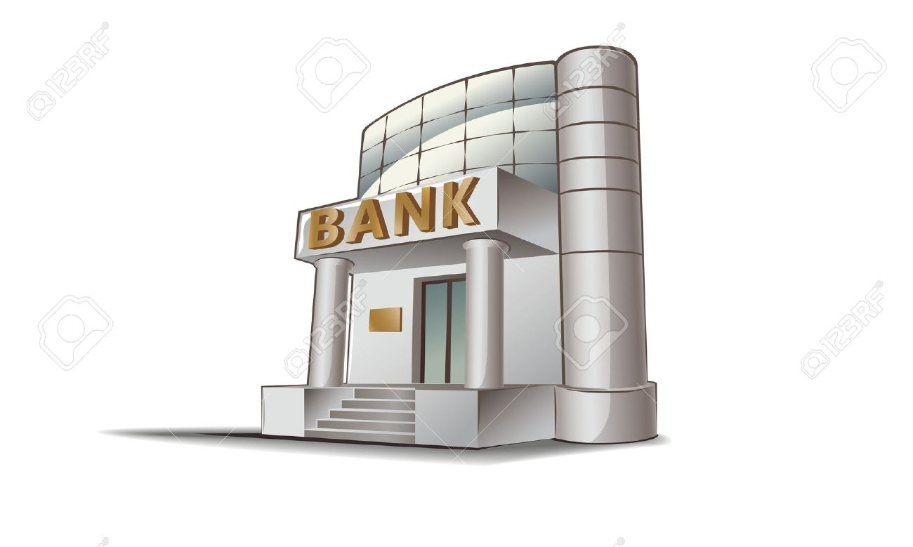 Bank clipart. New design digital collection