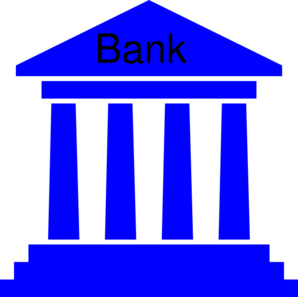 Bank clipart. Government blue clip art