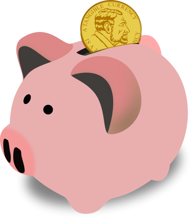 Bank clip savings. Account piggy free commercial