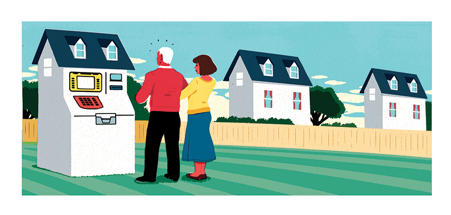 Bank clipart home equity. A retirement fallback plan