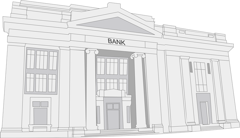 Bank old building