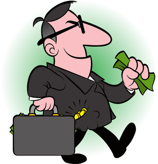 Banker clipart bank customer. Four types of rights