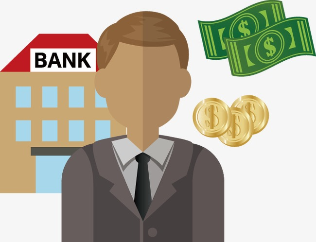 Banker clipart money gold. Bank employee png and