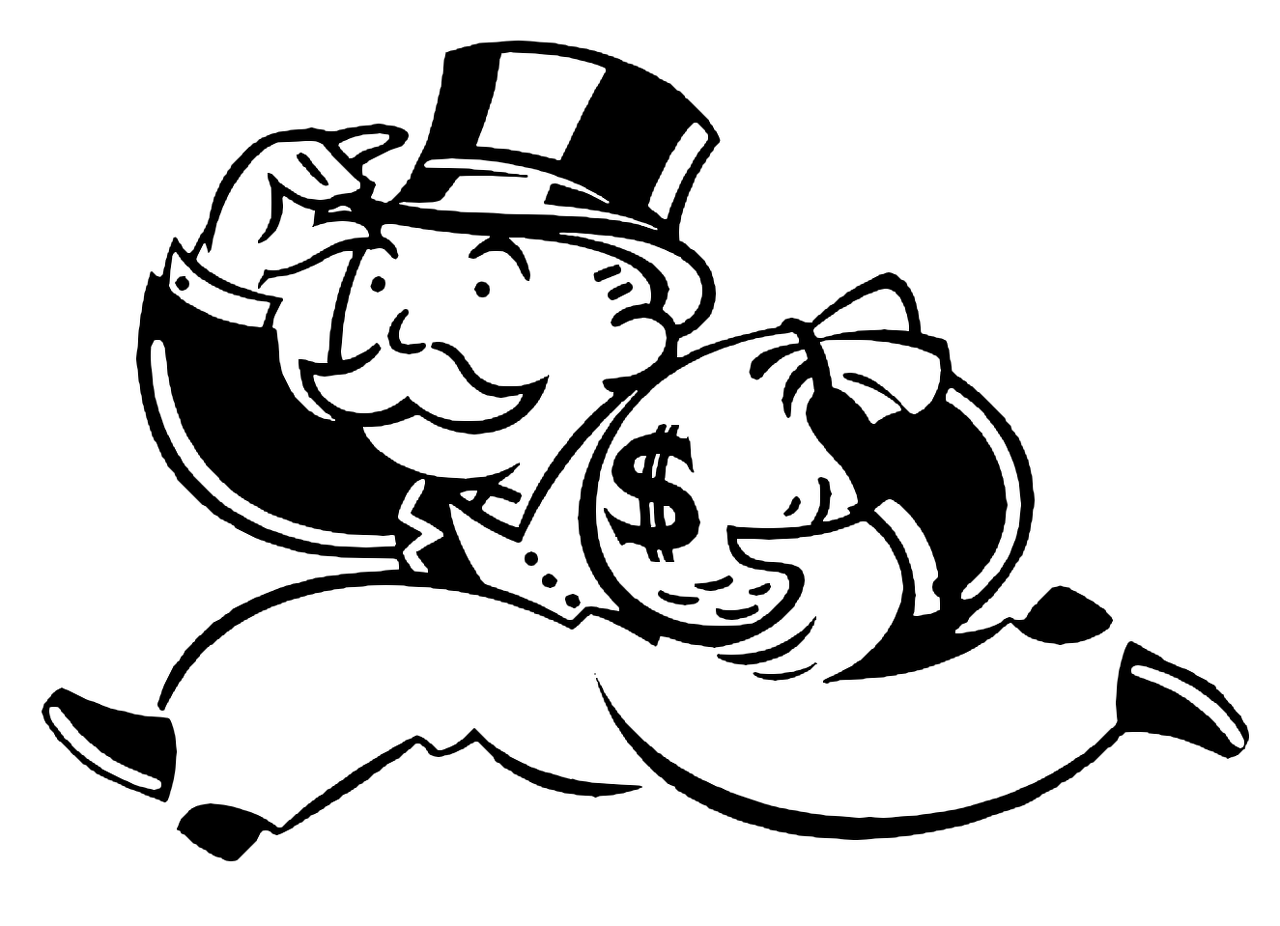 Banker clipart monopoly. Mr is a great