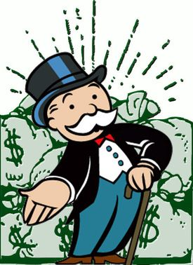 Banker clipart monopoly. Mr lots of hours