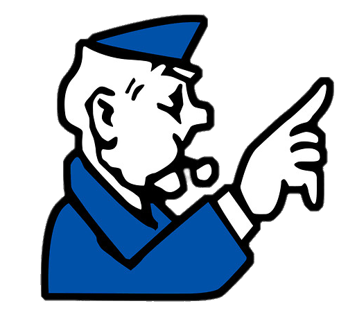 Banker clipart monopoly. Go to jail transparent