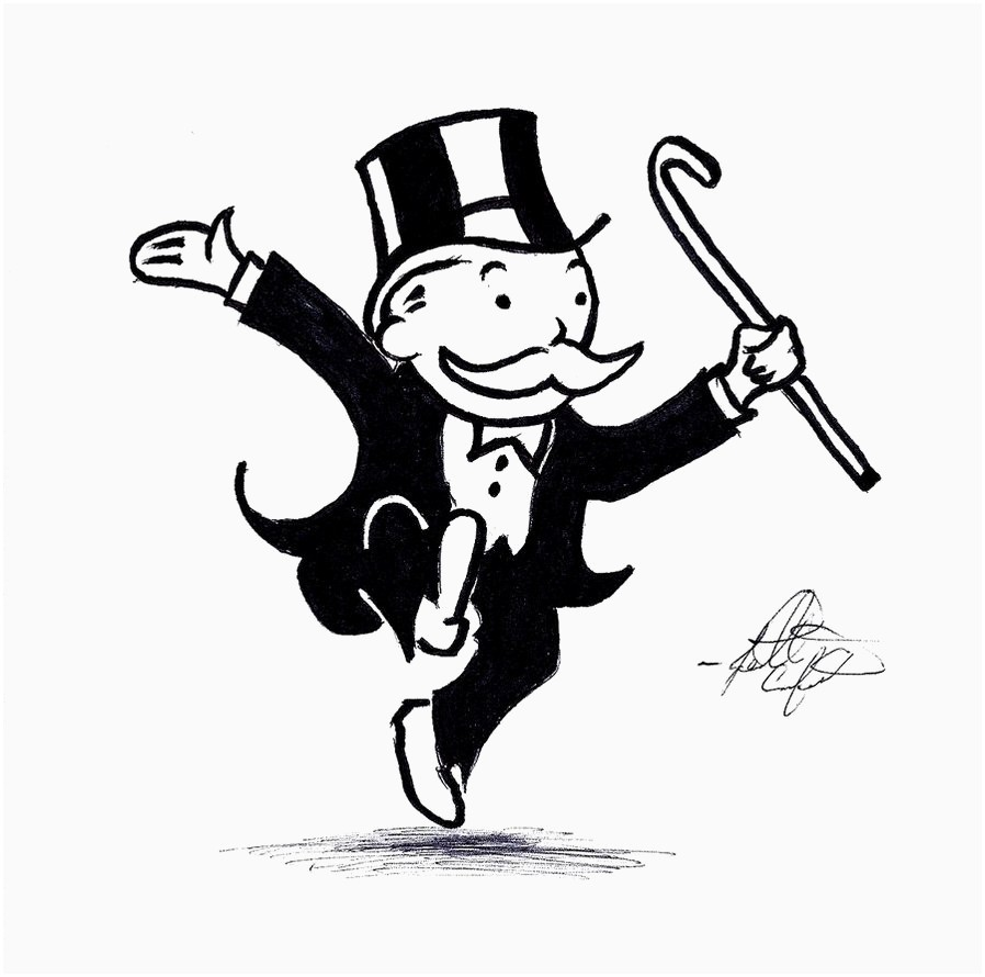 Banker clipart monopoly. Best of free clip