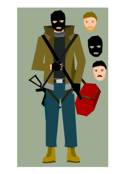 Banker clipart public space. Bank robbery netherlands domain