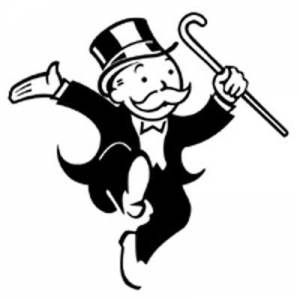 Banker clipart stingy. Kind of letters monopoly