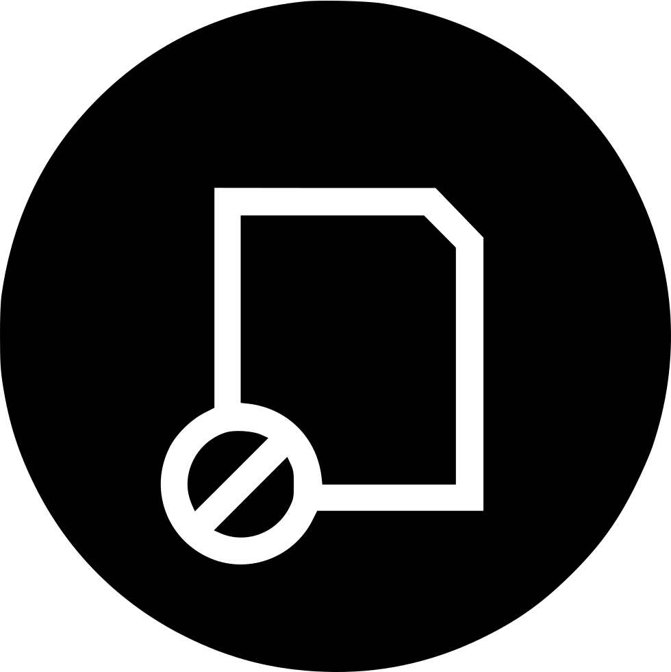 Banned circle png. Layer block file doc