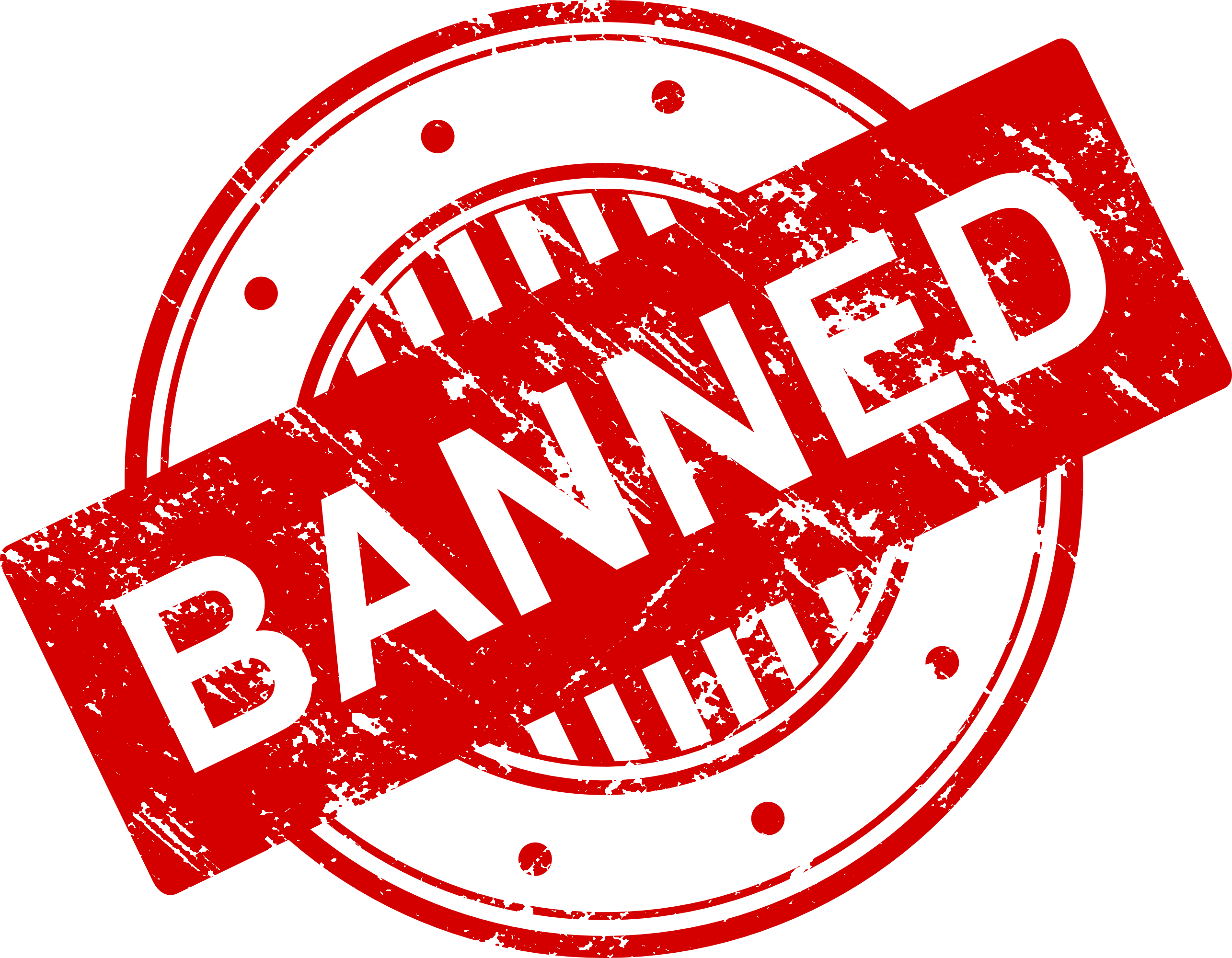 Banned .png. Stamp vector png