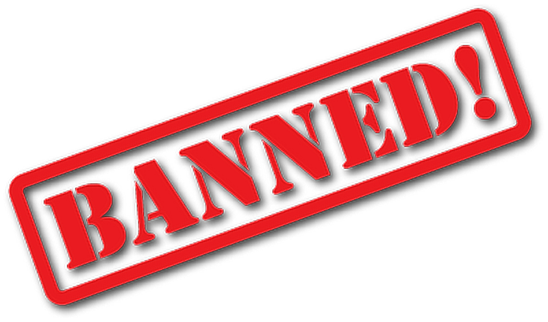 Banned logo png. Rejected sticker freetoedit report