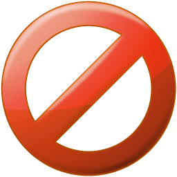 No sign png. Little banned logo image