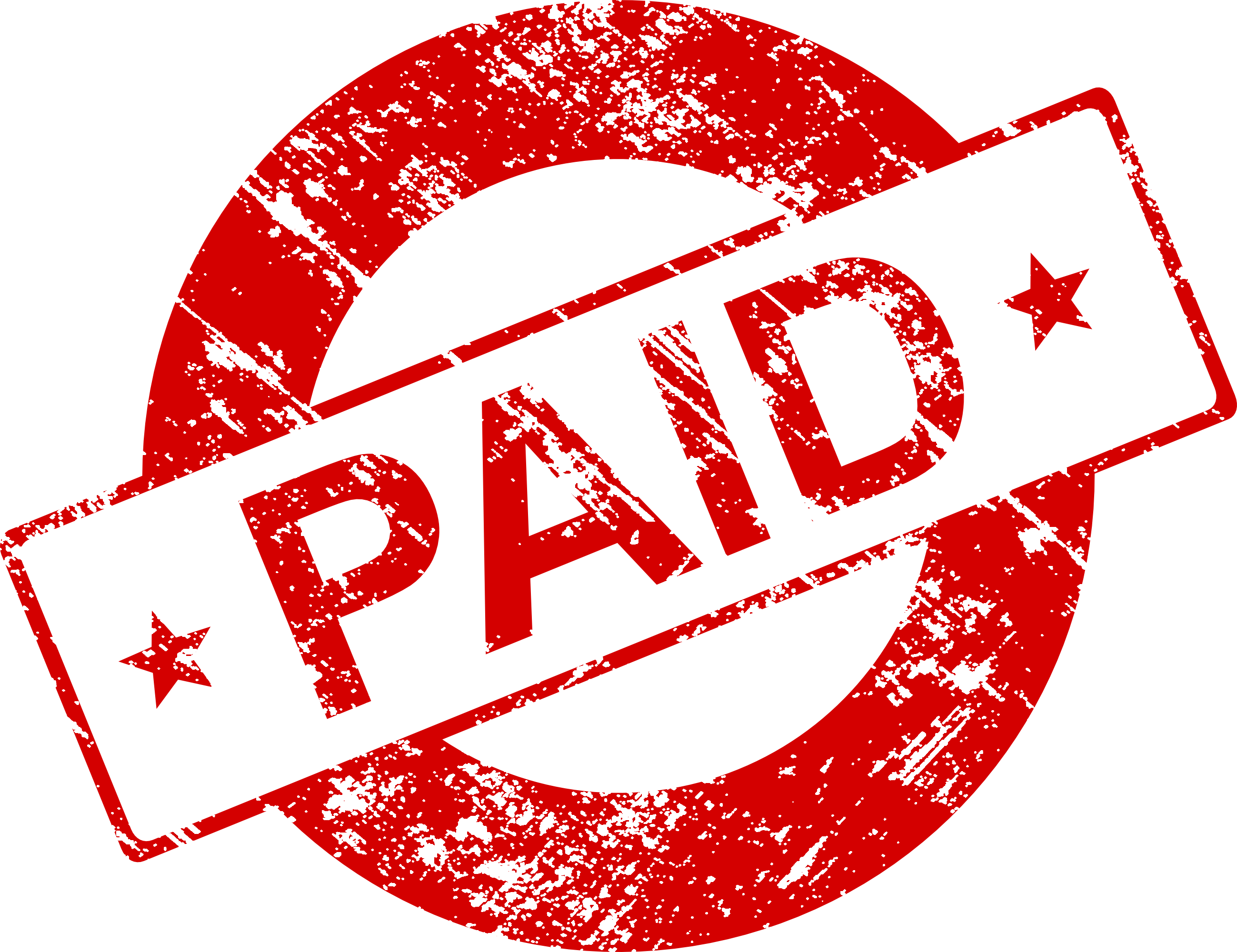 Paid png. Stamp vector transparent