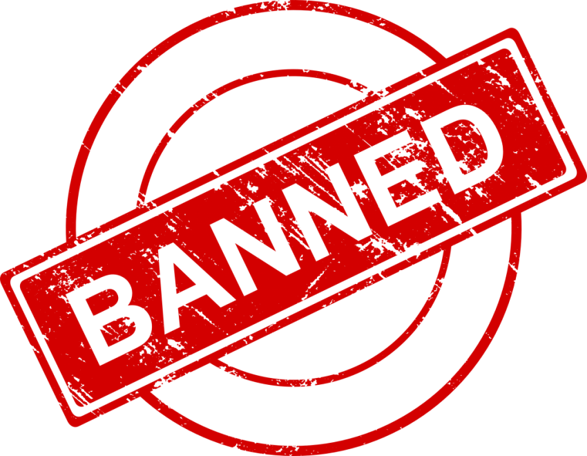Banned png. Stamp free images toppng