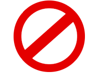 Free icon download sign. Banned png png black and white library