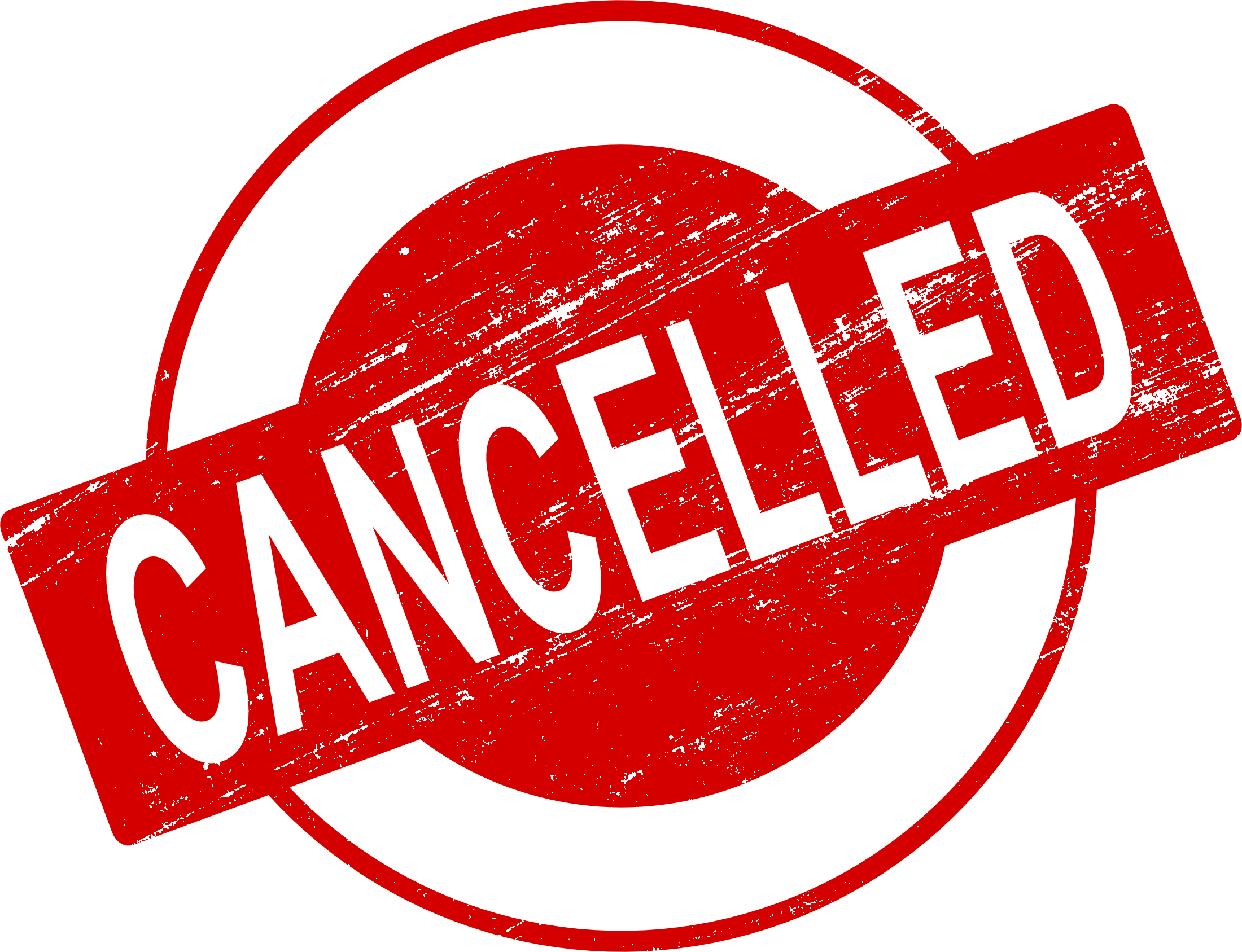 Transparent cancelled. Stamp vector png