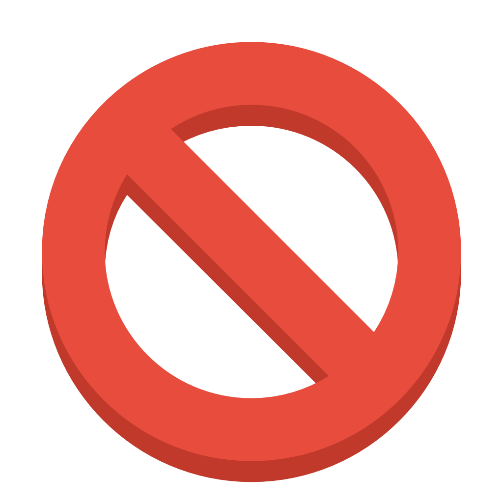 Banned sign png. Ban icon small flat