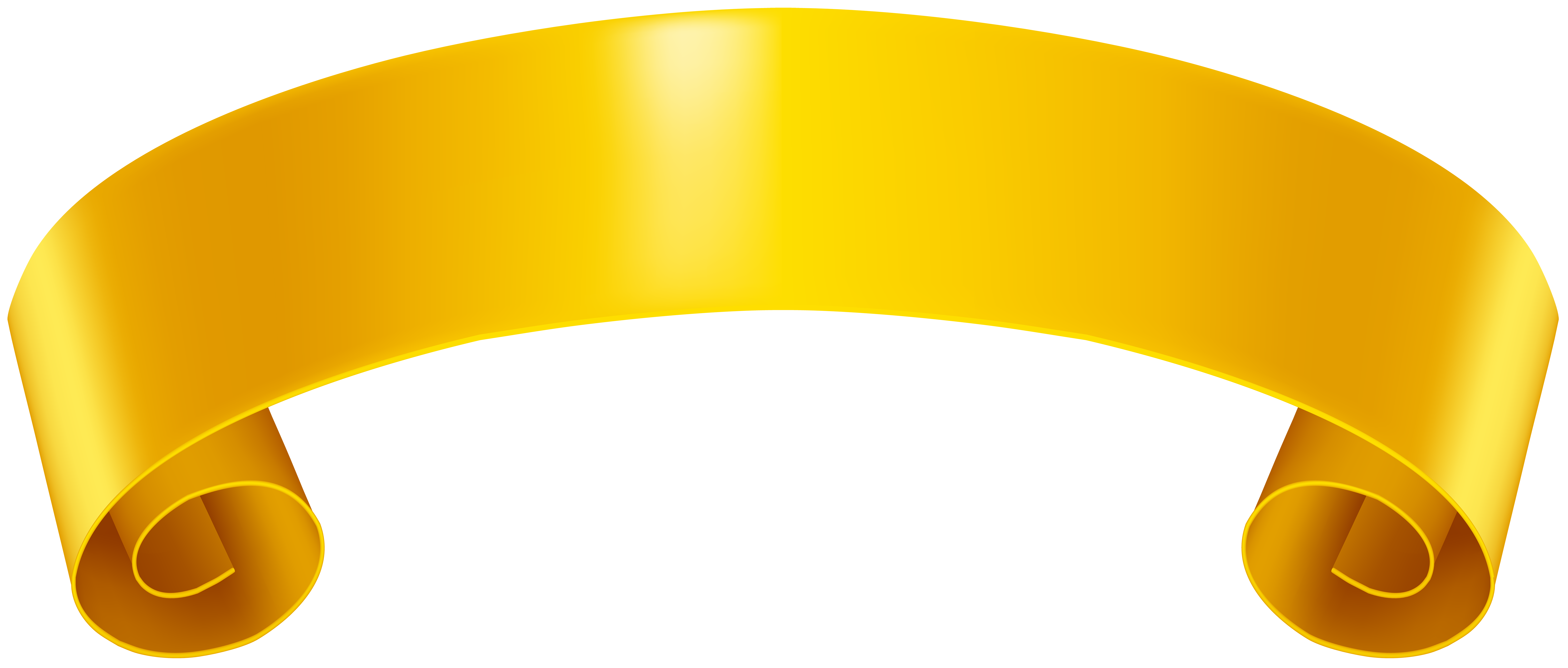 Banner clip. Yellow art png image