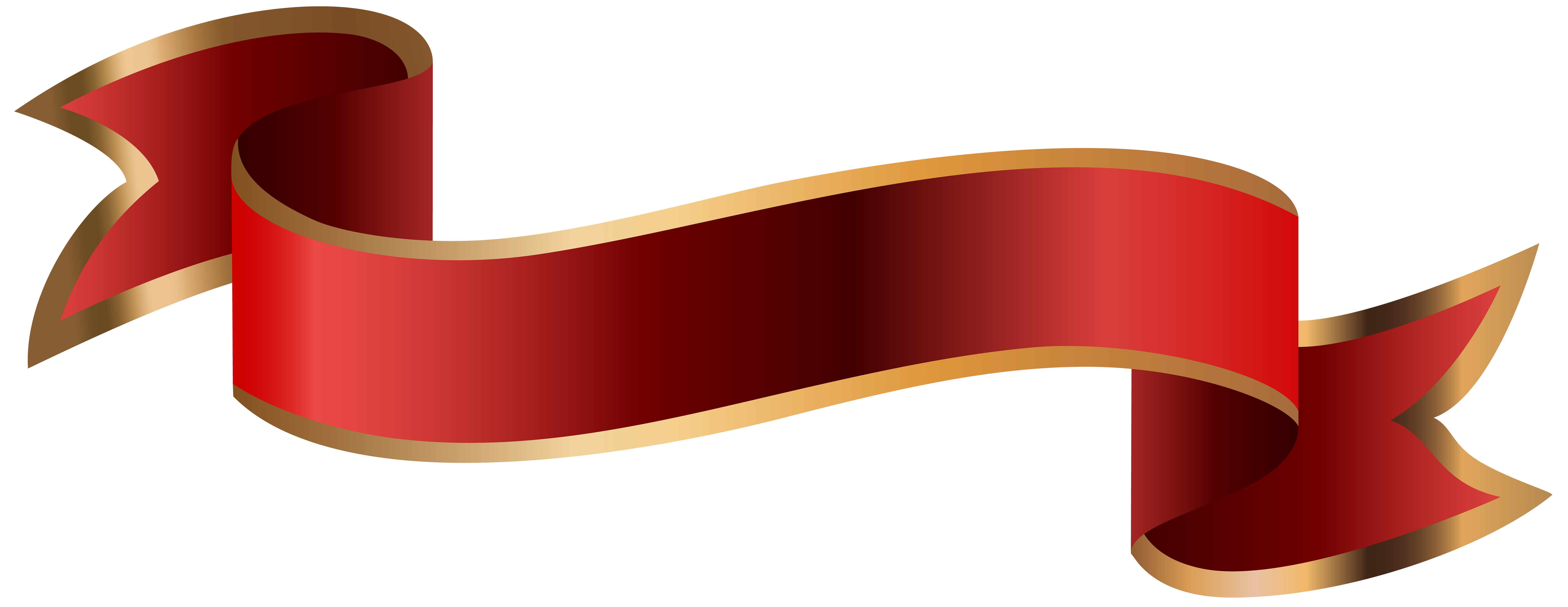 Banner clip. Red png art image