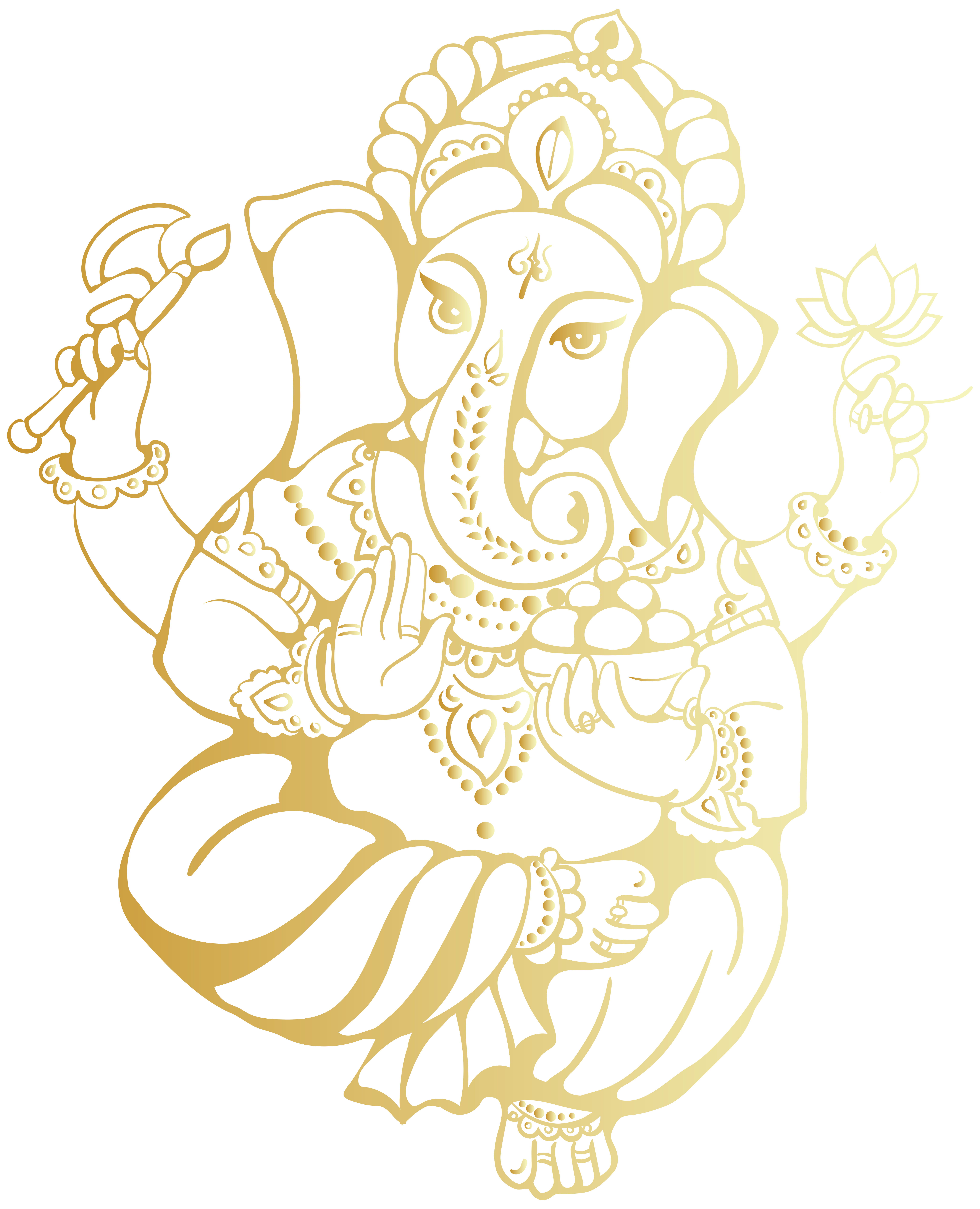 vector gold ganesha