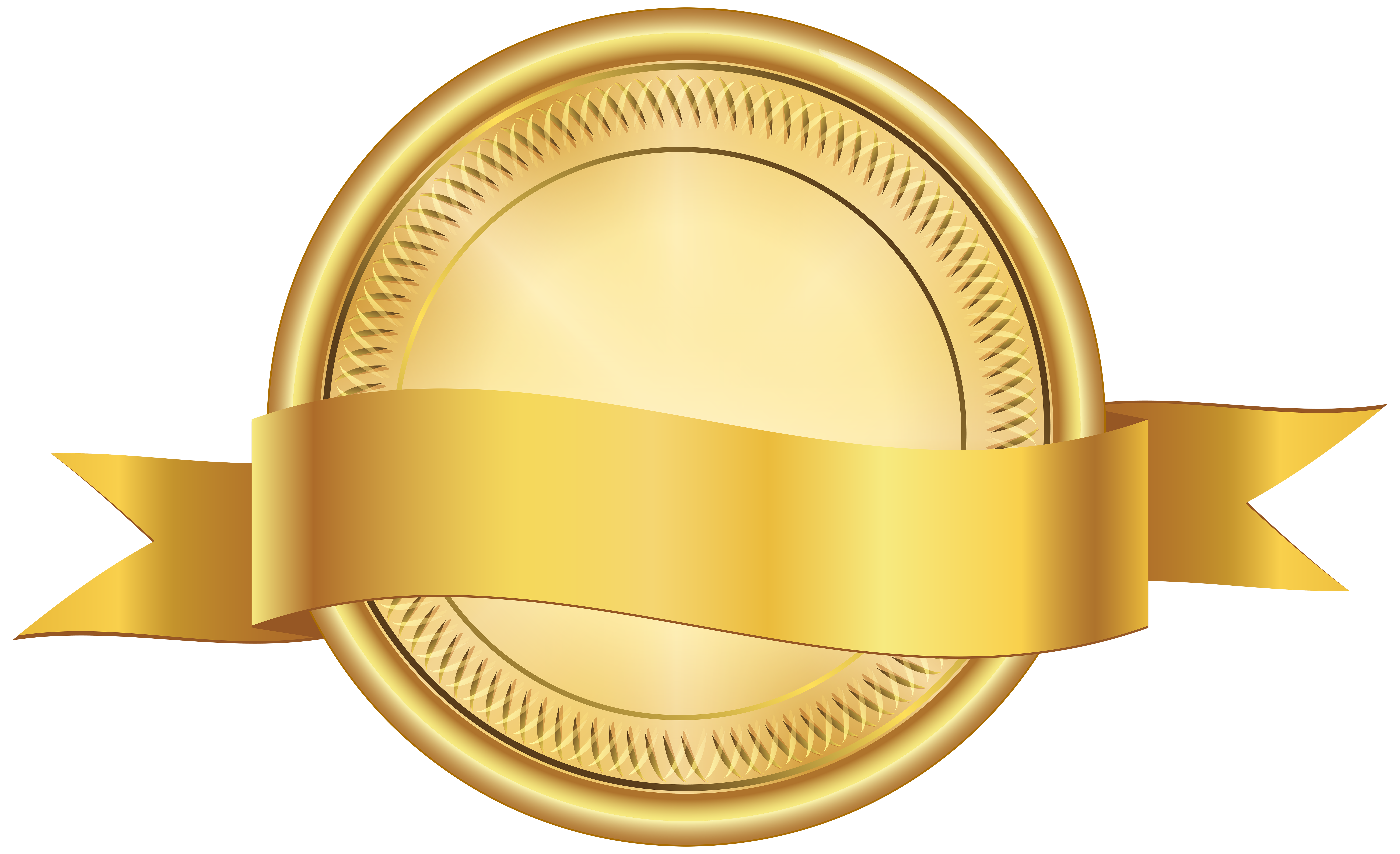 Banner clip medal. Seal with png art