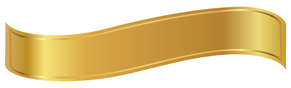 Banner clip pita. Gold png clipart image